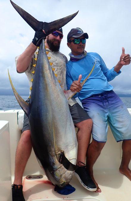 Hobey crushing Yellowfin Tuna